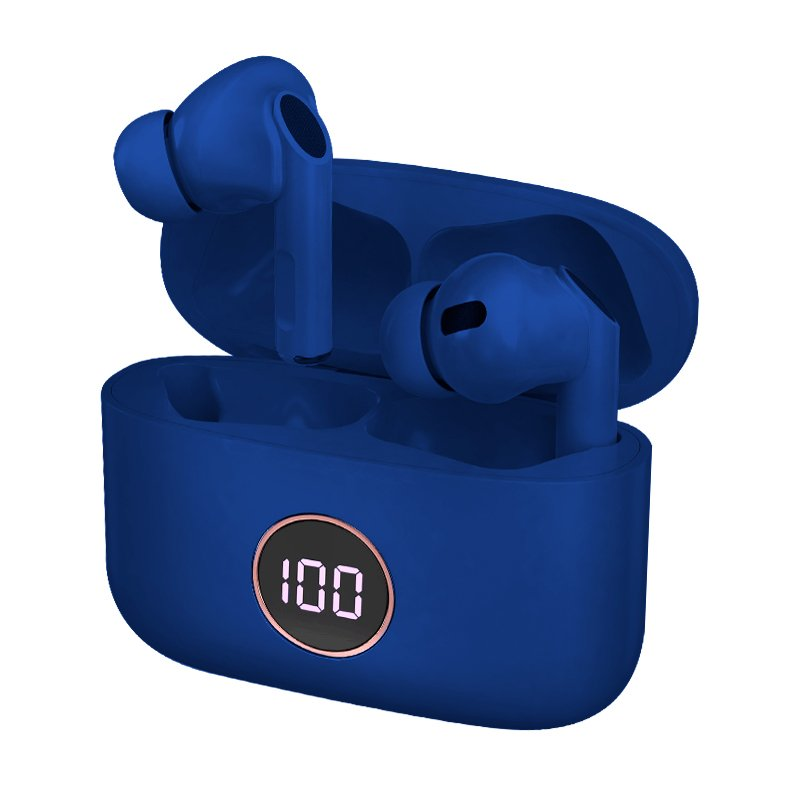 Auriculares Stereo Bluetooth Dual Pod Earbuds Lcd COOL AIR PRO - Azul