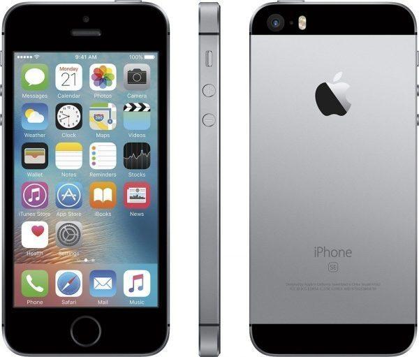 iPhone SE 64GB - Negro-Gris Space
